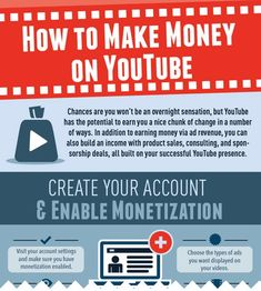 How Anyone Can Make Money on #Youtube [#Infographic] www.BloggerSentral.com