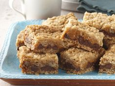 Chocolate, Caramel & Oatmeal Bars - ok. not my favorite but lots of others really liked it