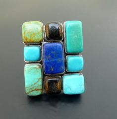 Handmade Sterling Silver Mosaic Statement Ring  by fishsilver, $125.00