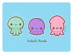 cute octopus cartoon drawing - Google Search