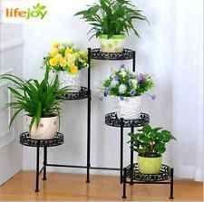 Plantador de metal de 5 niveles Estantes Para Exterior E Interior Olla Planta Soporte Jardín Decoración Del Jardín