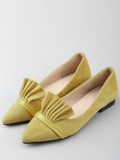 Casual Pointed Toe Ruffles Flats YELLOW: Flats 40 | ZAFUL