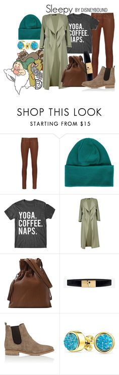 """""""Sleepy"""" by leslieakay ❤ liked on Polyvore featuring 7 For All Mankind, rag & bone, Y-3, Boohoo, White House Black Market, Barneys New York, Bling Jewelry, disney, disneybound and disneycharacter"""