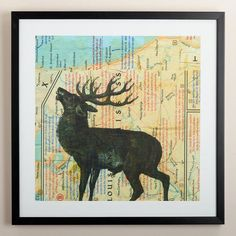 For my future home... my moose obsession!!! One of my favorite discoveries at WorldMarket.com: 'Earth Day X' by Judy Paul