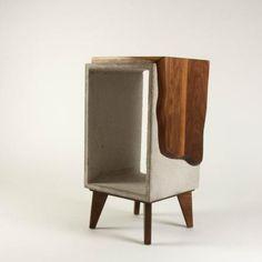 Concrete & Live Edge Black Walnut Side Table with Legs Furniture Care, Wood Furniture, Diy Interior, Interior Design, Walnut Table Top, Handmade Table, Concrete Wood, Side Tables, Woods