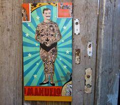 The Tattooed Man Original Painting  Vintage by CityandSeaVintage, $1200.00