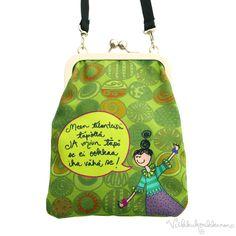 """Olkalaukku Väsky """"Meen tilanteisii täpöllä..."""" Coin Purse, Purses, Wallet, Handbags, Purse, Bags, Diy Wallet, Coin Purses"""