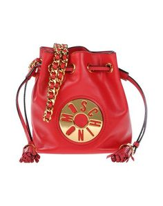 MOSCHINO . #moschino #bags #shoulder bags #hand bags #leather #bucket #metallic #