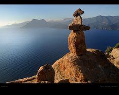 nice vista: Calanche Korsika by Andreas Saladin