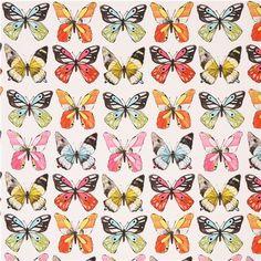 white butterfly animal fabric Michael Miller Flutter 3