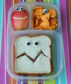 Funny eye-a-licious School Lunch in Easylunchboxes - mamabelly.com