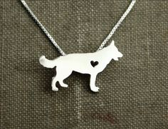 Show your love of your German Shepherd. High quality silver colored pendant…