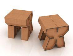 Luc Brinkman Industrial Design & Architectural Modeling | Industrial Design | Cardboard Stool