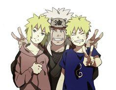 Jiraiya Minato and Naruto
