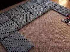 DIY Fabric Wall Headboard DIY home furniture