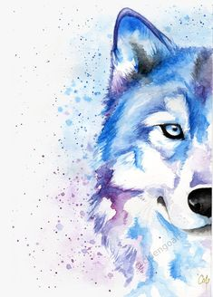 Wolf face, wolf illustration, watercolor art, wall art is part of pencil-drawings - cluengoart THANKS FOR STOPPING BY! Wolf Painting, Painting Prints, Cute Animal Drawings, Art Drawings, Cool Wolf Drawings, Pencil Drawings, Watercolor Animals, Watercolor Paintings, Watercolor Wolf Tattoo
