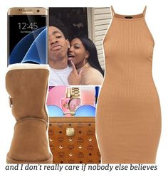 """""""LittleBrownPie👅"""" by purplequeen04 ❤ liked on Polyvore featuring Samsung and UGG Australia"""