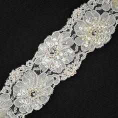 Perles Sequin broderie ruban dentelle dentelle de par JoyceTrimming, $11.50