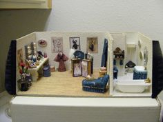 """1/4"""" Broadway Star's Dressing Room done in a Purse jewelry box."""