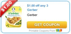 Save $4.75 on Gerber baby food products!