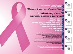 Breast Cancer Fundraiser Flyer - Easily create a custom fundraising event flyer for your breast cancer event or Relay For Life fundraiser. Lots of styles to choose from. Find out more at Canada Ticket Printing: www.canadaticketprinting.ca