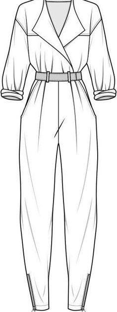 Fashion design sketches jumpsuit for 2019 Fashion design sketches jumpsuit for 2019 Dress Design Sketches, Fashion Design Sketchbook, Fashion Design Drawings, Sketch Design, Design Model, Illustration Mode, Fashion Illustration Sketches, Fashion Sketches, Fashion Model Sketch