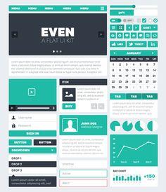 Even: A Flat UI Kit by Adam Robertson