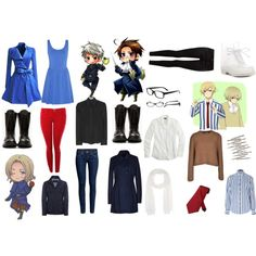 """""""Hetalia Cosplay - France, Prussia, Austria, Iceland and Norway"""" on Polyvore"""