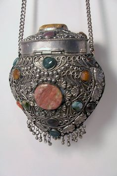 Metal Purse with  Semi Precious Stones by CJsVintageVariety, $63.99