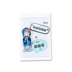 Youpop KPOP BTS Bangtan Boys V Album Brooch Set Pins Acrylic Plastic Badge Accessories For Clothes Hat Backpack Decoration HZ378