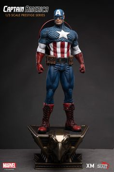 Pre-Order Captain America by XM I LBS now here with us in europe. Super-Soldier Captain America stands ready as a shining sentinel of liberty! Captain America Statue, Captain America Figure, Captain America Comic, Batgirl, Catwoman, Live Action, Secret Avengers, Marvel Statues, Super Soldier