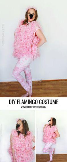 Easy DIY Flamingo costume - fun, fast halloween costume! #sp #MichaelsMakers