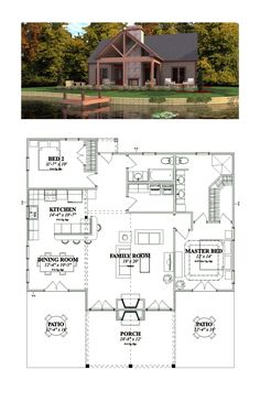 Bungalow House Plan 78776 | Total Living Area: 1375 SQ FT, 2 bedrooms and 2 bathrooms. #bungalowhome