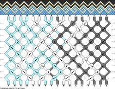 friendship bracelet patterns - 17 strings 10 rows 3 colors