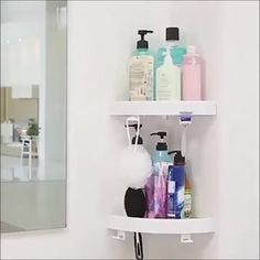 Handprint Art Discover Corner Storage Holder Shelves Turn any corner into a useful space. Unique polymer pads and exclusive press technology guarantee a strong everlasting grip that wont slip. Diy Bathroom, Small Bathroom, Bathroom Ideas, Teen Bathrooms, Bathroom Marble, Bathroom Vanities, Bathroom Furniture, Bathroom Organization, Bathroom Storage