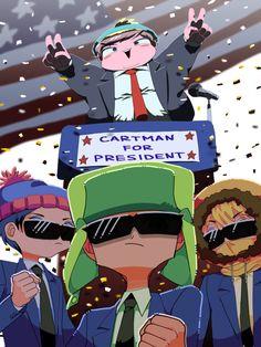 Cartman (Donald trump) I wouldn't vote. South Park Anime, South Park Fanart, Anime Chibi, South Park Cartman, Style South Park, Kevedd, Stan Marsh, Fandoms, Lol League Of Legends