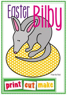 Easter Bilby on an Egg - Paper Craft for an Australian Easter. $2.00 digital download from teacherspayteachers.com