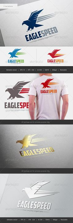 Eagle Speed Logo — Vector EPS #overseas #mascot • Available here → https://graphicriver.net/item/eagle-speed-logo/5496399?ref=pxcr