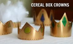 DIY Family Craft: Crowns Made from Cereal Boxes