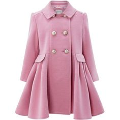Monsoon Natalia Coat (4.200 RUB) ❤ liked on Polyvore featuring outerwear, coats, jackets, pink coats and monsoon coats