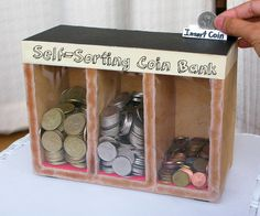 Laundry day will be a little less stressful when you don't have to sift through your change bowl for quarters. Build a machine that sorts your coins, using gravity.