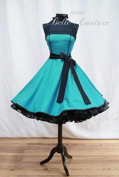 c02bc574736b 50er Jahre Cocktail Tanz Kleid z. Petticoat auch n. Maß   eBay 50er Jahre