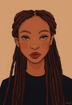 Foto Cartoon, Dope Cartoon Art, Black Girl Cartoon, Black Love Art, Black Girl Art, Black Girls Drawing, Pretty Art, Cute Art, Dope Kunst