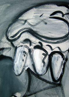 """""""El fantasma 2 """", acrilico sobre lienzo, 65 x 70 cm. , 1998. by Diego Manuel"""