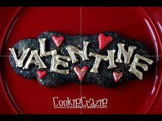 Valentine Plaque Decorated Cookie Tutorial Video - Cookie Crazie