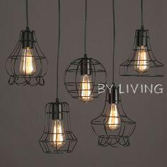industrial-vintage-retro-black-metal-cage-hanging-ceiling-bar-cafe-pendant-light