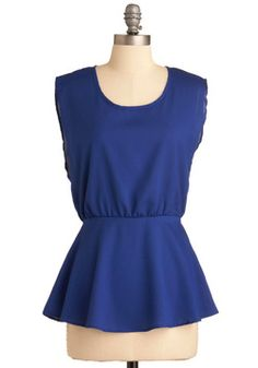 Coral Coasts Top in Blue, #ModCloth
