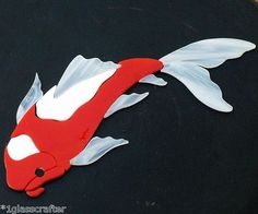 New koi designs. Stained glass precut kits. Use as a suncatcher or great for mosaic inlay projects.