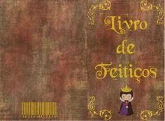 Capa completa livro de feitiços bruxa malvada que fiz para aniversário da minha filha - Branca de neve - madrasta. Para livro 19cm x 12,5cm.