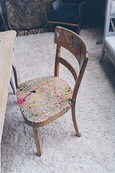 Alexia S photographer / Inside Bryan Ferry's London Home (pain-splattered chair by Rolf Sachs)